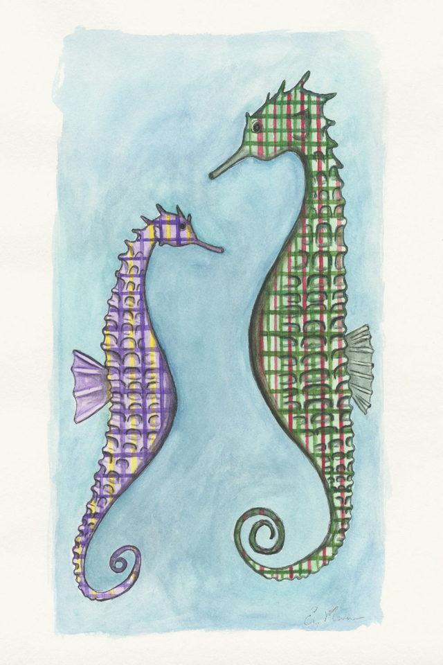 Tartan Seahorse