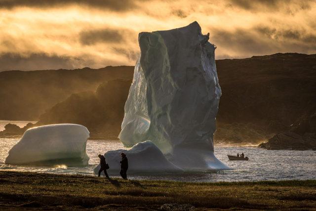 Goose Cove Iceberg Sunset 2