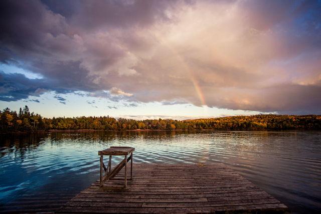 Rainbow Over Frank's Wharf