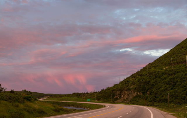 Heading to the ferry. Near Port aux Basques