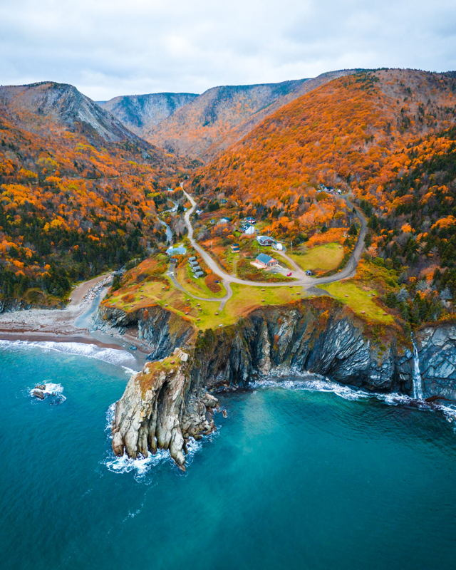 Fall Colours in Meat Cove, Nova Scotia