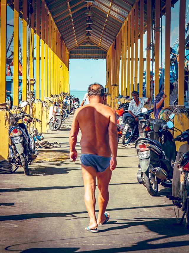 Man In Underwear in Malaysia