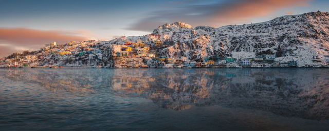 Morning Reflections at the Battery Panoramic