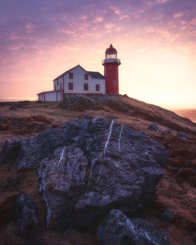 Glowing Light Ferryland Lighthouse