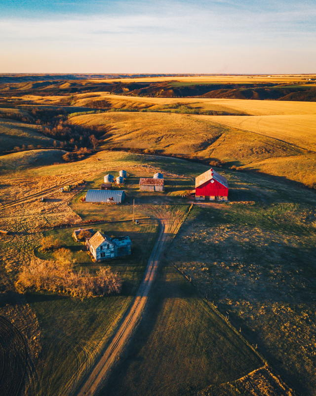 On the farm in Saskatchewan