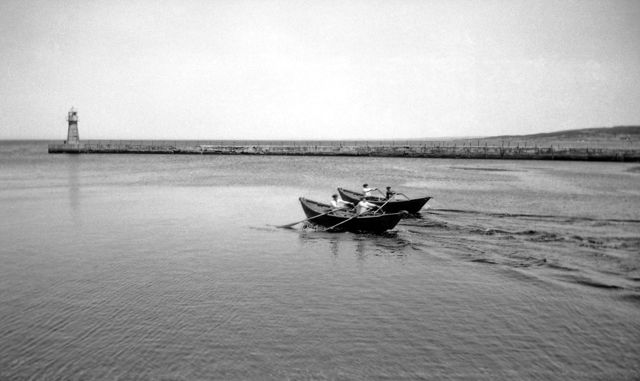 Dory Races at Grand Bank in the 1940's