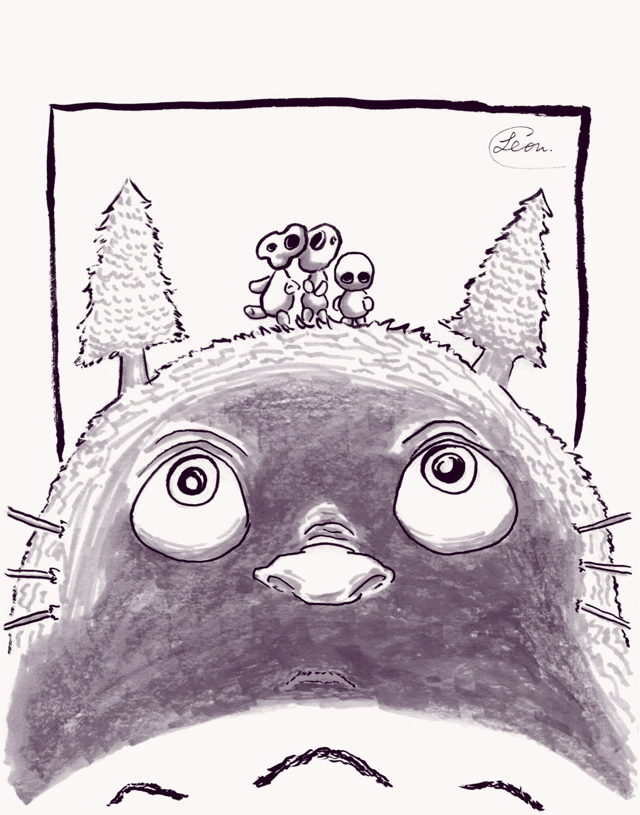 Totoro and the Forest Spirits