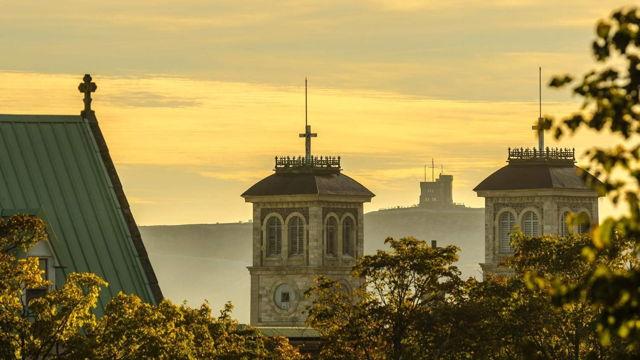 Cabot Tower Through The Basilica
