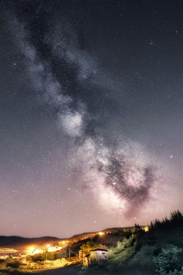 Milkway Above Brigus South's Sky