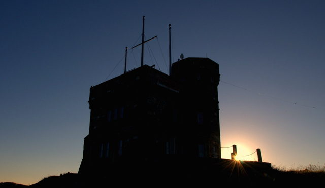 Cabot Tower Silhouette