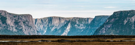 Western Brook Pond Gorge Panorama