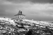 Cape Spear Lighthouse in Black and White