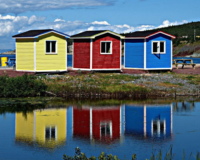 Coloured Sheds in Cavendish