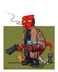Hellboy, protector of Kittens