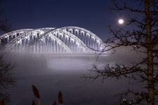 Foggy Winter Bridge