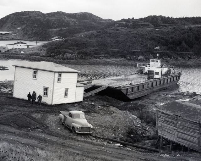 Resettlement Barge Unloading House in Burin - 1960s