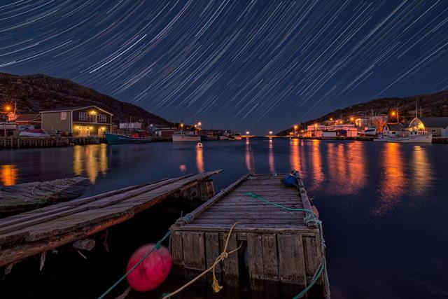 Quiet Petty Harbour Night