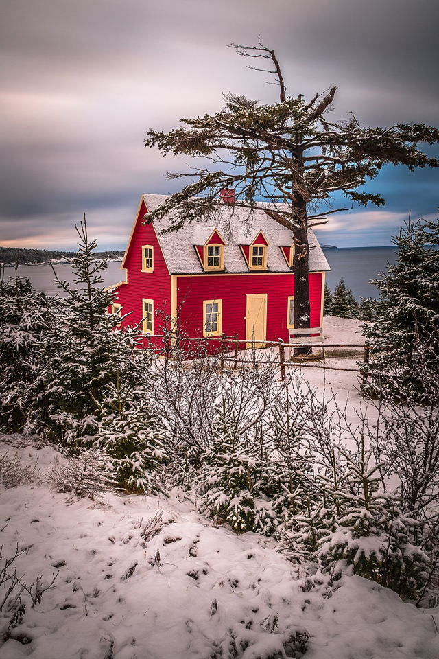 The Little Red House Wintertime 2