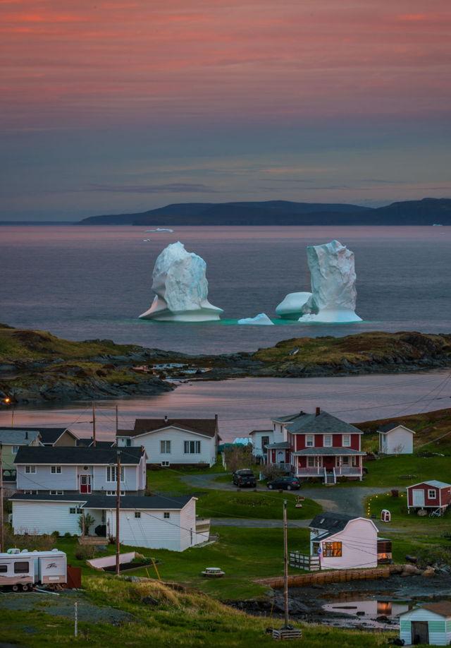 Goose Cove Iceberg Sunrise