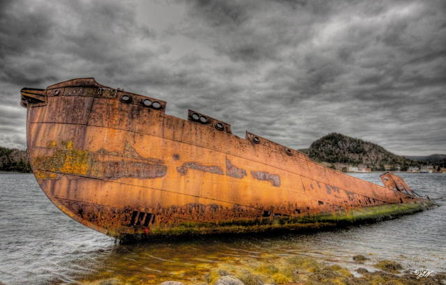Derelict whaler in Conception Harbour