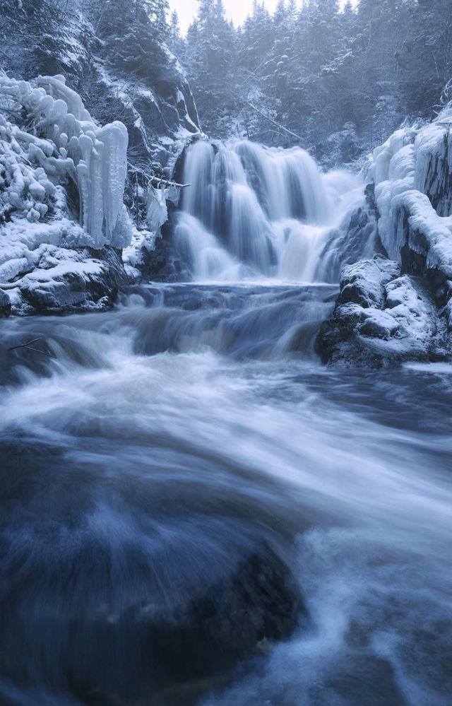 Winter Waterfall Terrenceville 2