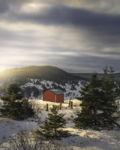 Red Barn Wintertime