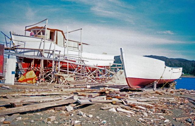Boat building at Saint Alban's, NL - 1980.