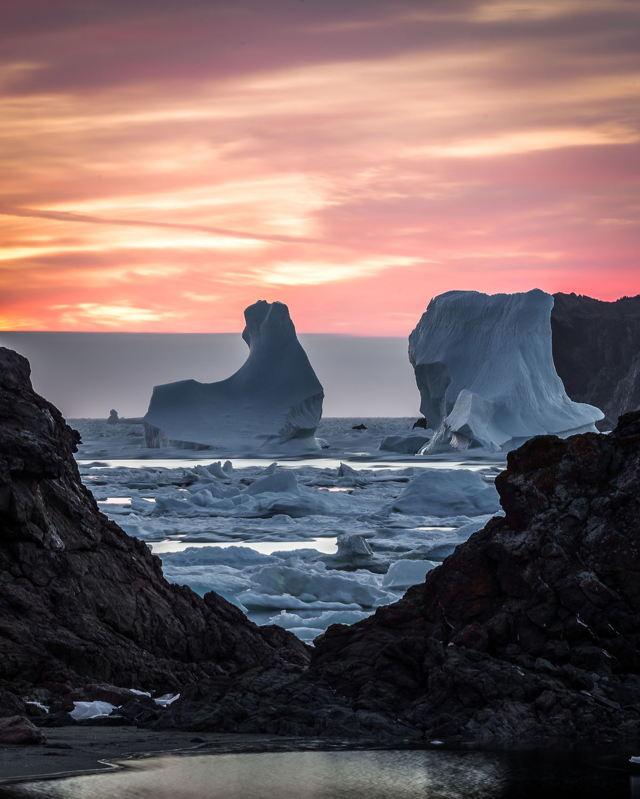 Wild Cove Twillingate Sunrise Ice