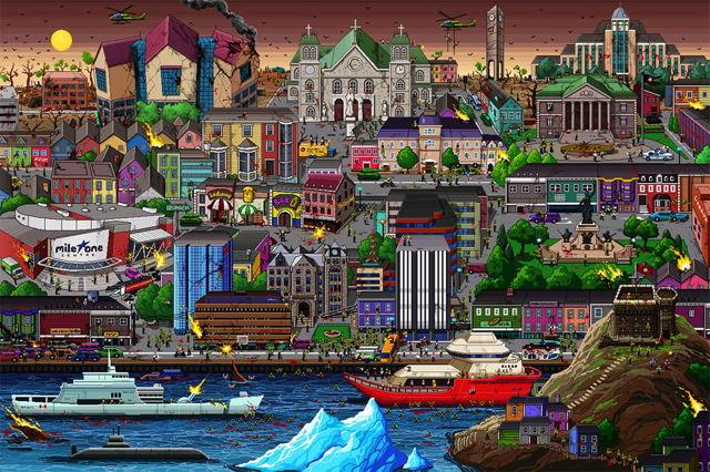 Zombie St. John's pixelCity
