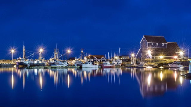 Bonavista Harbour at Night 2
