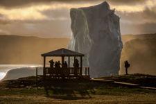 Goose Cove Iceberg Sunset 1