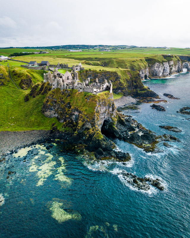 Epic Irish Coastline at Dunluce Castle
