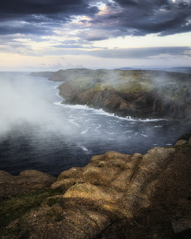 Misty Morning Cape Spear Coastline