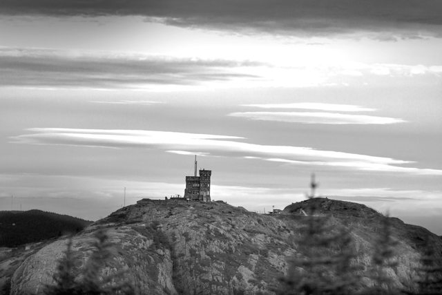 Cabot Tower in Black and White
