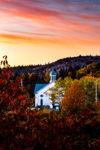 Brigus Church Sunset