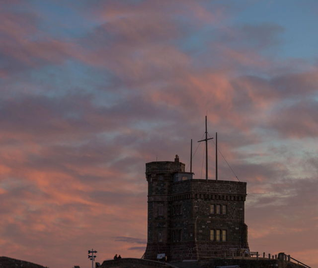 Cabot Tower in the late evening