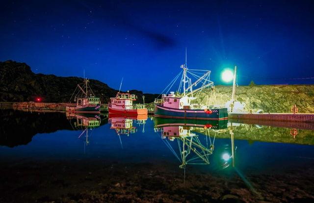 Nighttime Boats Brigus
