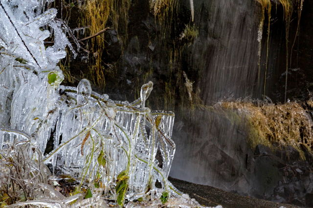 Waterfall and icicles