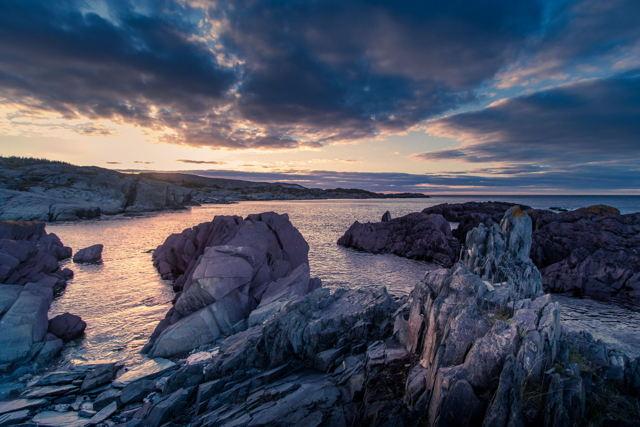 Sundown in Keels on the rocks