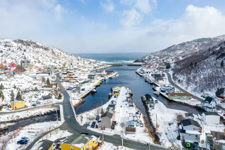 Snow Outside Petty Harbour