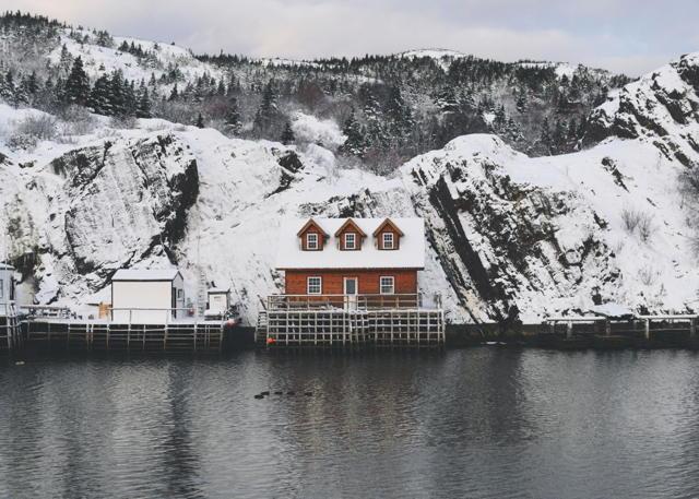 Snowy Cabin in The Gut
