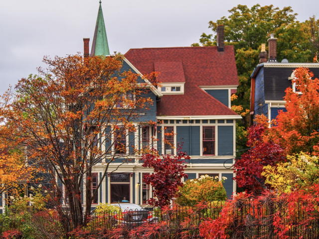 Heritage home in the fall