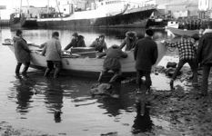 Pulling A Dory Ashore After Turre Hunting - Grand Bank - 1974
