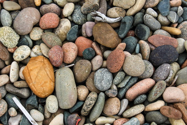 Port Harmon beach rocks
