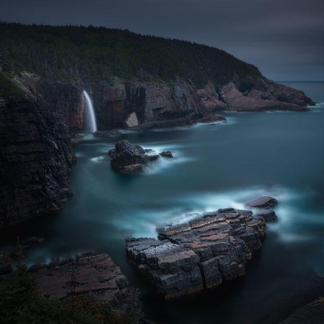 Stiles Cove Waterfall