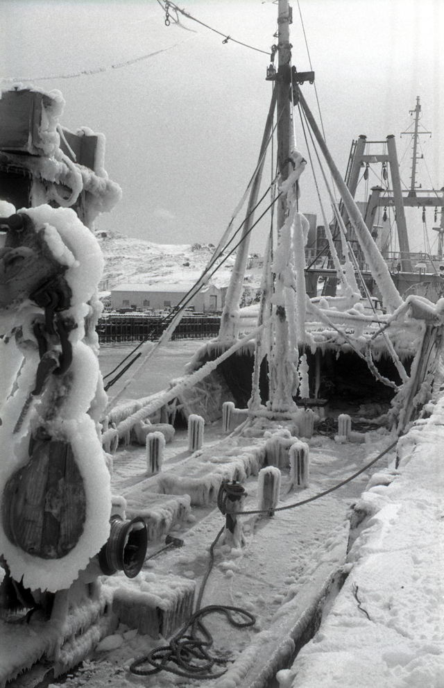 Ice on Deck - Burin trawler - 1960s