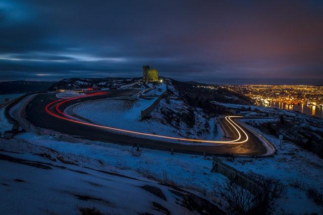 Signal Hill Light Trails