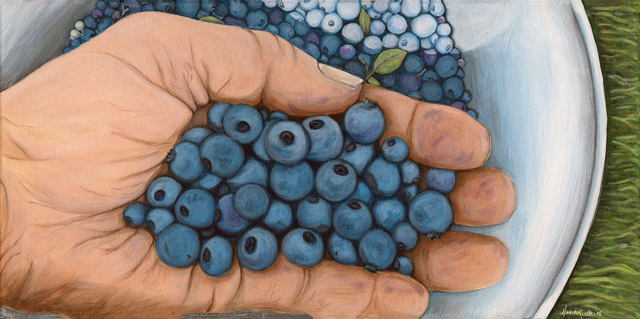 Hand Full of Blueberries