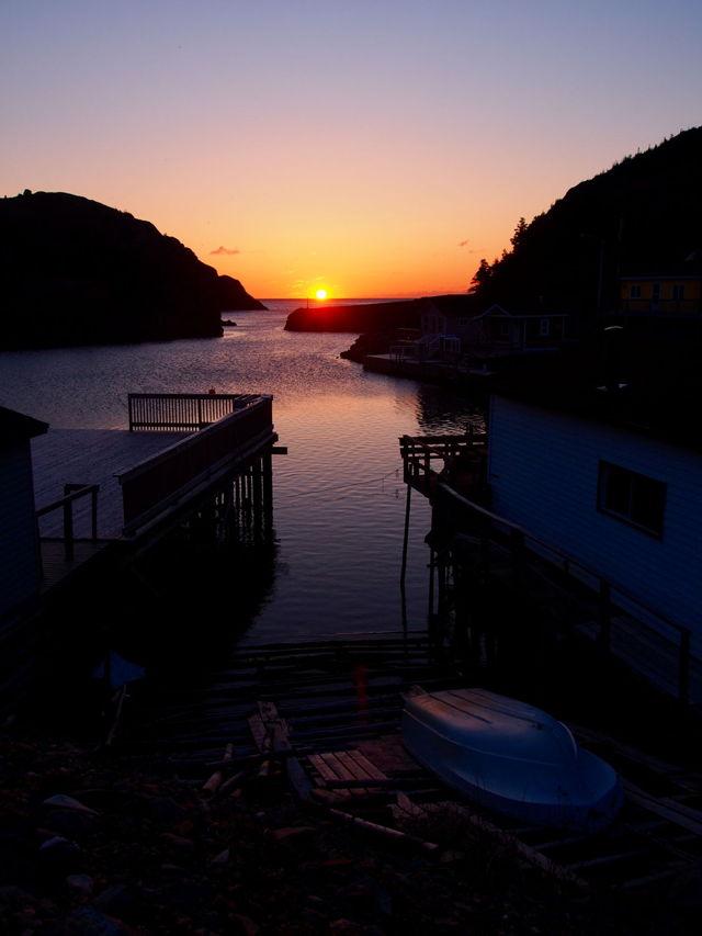 Sunrise through the Gut of Quidi Vidi