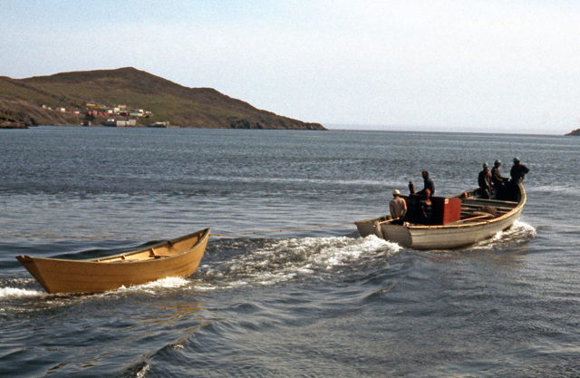 Enroute to the Cod-trap - Lawn, NL. - 1970s